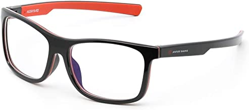 Shroud Gaming Glasses by AVATUDE Gaming (PLUS Hard Case & Cleaning Cloth) (Inferno Red)