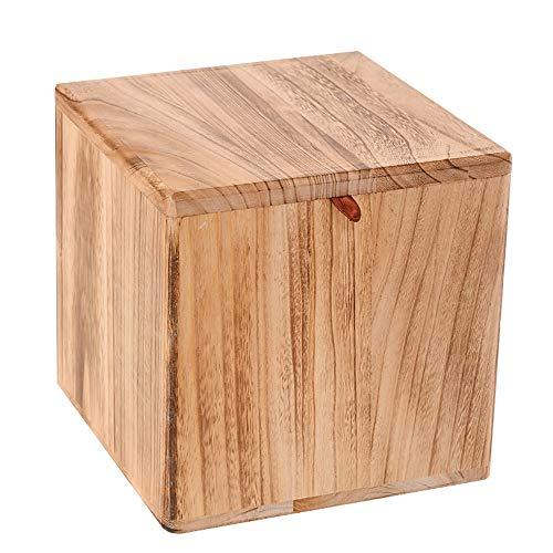 77SRF - Sgabello piccolo in legno massiccio per soggiorno, cambio scarpe e scarpe, sgabello da casa, tavolino da caffè, sgabello quadrato SRF (colore: B)