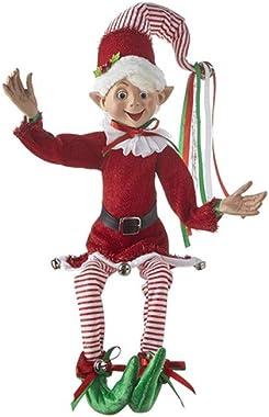 RAZ Imports 2021 Country Kitchmas 30-inch Posable Elf Figurine