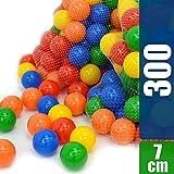 LittleTom 300 Boules colorées Ø7cm piscines Enfant mélange de 5 Couleur