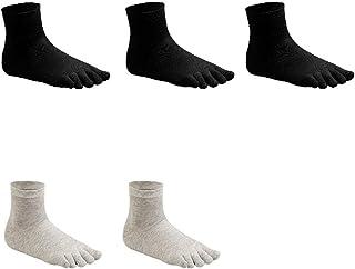 zongshengshop, Calcetines casuales 5 pares separados del dedo del pie dedo Calcetines y medias de algodón colorido de cinco dedos calcetines for las mujeres y muchachas que se ejecutan ejercicios Calcetines unisex