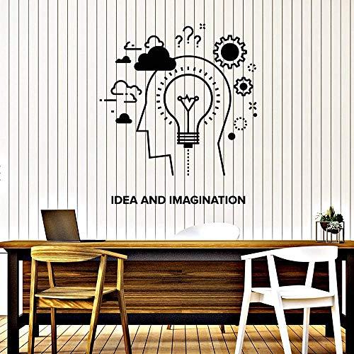 Pegatinas De Pared Arte De La Pared Creatividad E Imaginación Decoración Habitación De Los Niños Lámpara De Engranajes Decoración De Vinilo 42X48Cm