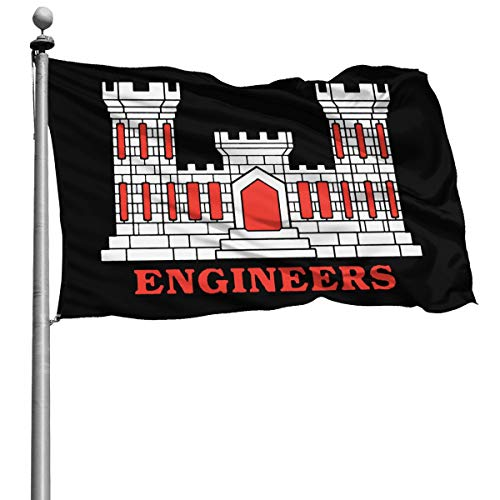 HUIHUANGm US Army Engineers (Castle) Garden Flag Decorative Flag House Flag Outdoor Flags Yard Banner 4x6 Ft