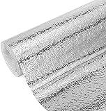 Foglio di Alluminio Adesivo Carta A Prova di Olio Foglio 40cm* 10m per Cucine Armadi Mobili Tavoli fai da te
