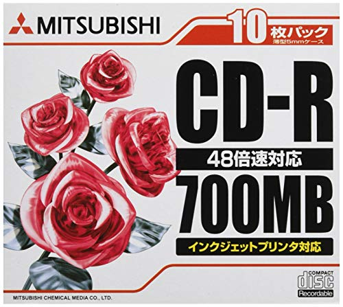 三菱ケミカルメディアPCデータ用CD-R 700MB SR80PP10 1箱(100枚:10枚×10パック) 三菱ケミカルメディア