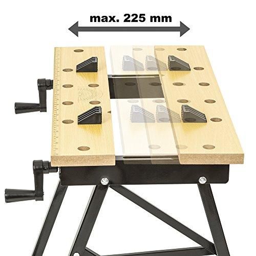 TecTake Werkbank A Gestell klappbar Tisch mit Klemme - 4