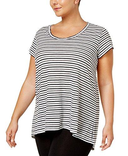 Calvin Klein Damen Plus Size Shirt Unterhose, Schwarze Kombi, 2X
