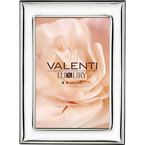 Valenti&Co - Cornice Portafoto bilaminata in Argento Retro Legno. Ideale Come Regalo (4L (13X18cm))