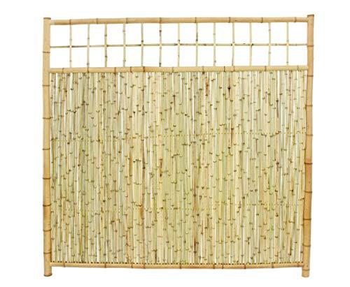 bambus-discount.com 'bambú para ventana pared Ten Premium Altura 180x ancho 180cm, con rejilla superior–bambú pared Wind Protección Visión pared para privacidad para ventana pared terraza