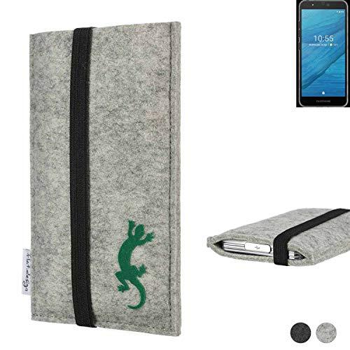 flat.design Handy Hülle Coimbra für Fairphone Fairphone 3 handgefertigte Handytasche Filz Tasche Case fair Gecko