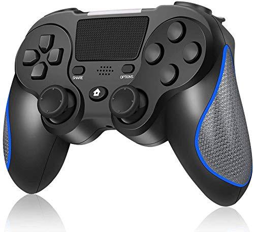 Controlador sem fio para Playstation 4 / Pro/Slim/PC, Gamepad sem fio RegeMoudal para PS4 Joystick de bateria recarregável de 600mAh integrado, suporte para vibração dupla e touch pad