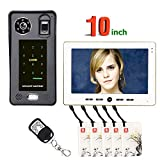 XH&XH 10 Zoll Fingerabdruck IC Karte Bildtelefon Video-Türsprechanlage Freisprecheinrichtung Zugangskontrollsystem