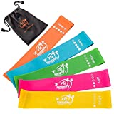 Fit Simplify 10 Inch Resistance Loop Exercise Bands, Set of 5, Assorted Colors