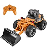 Szdxuw Remote Control Bulldozer Toy - 1:16 Hobby RC Trucks Caterpillar Aluminum Alloy Rc Front Loader 4WD for 6-15 Years Old Boys Kids Gift