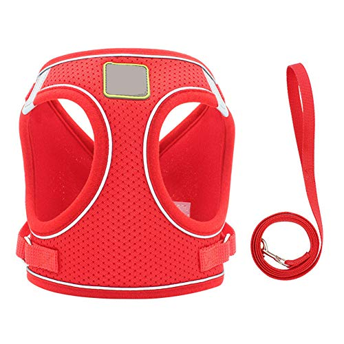 ROWAI Step-in Dog Harness All Weather Mesh Step in Vest Harness for Small and Medium Dogs by Best Pet Supplies Red L