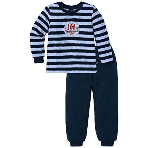 Schiesser Jungen Kn Lang Zweiteiliger Schlafanzug, Blau (Nachtblau 804), 92 (Herstellergröße: 092)