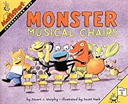 monster musical chairs - subtraction book for kids