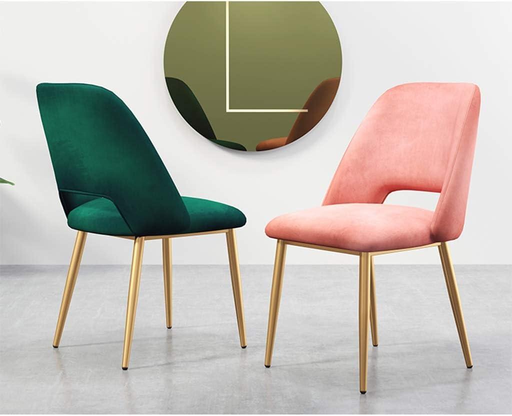 Chaise de bureau de dossier, chaise créative en métal de LOFT de style nordique de chaise de salle à manger de café de tissu, 43 * 46 * 58CM (Couleur : #6) #7