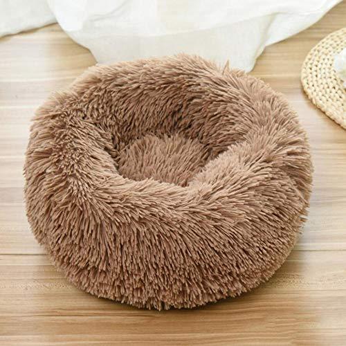 MKDLB Wasbare Hond Kat Bed Pluche, Huisdier Bedden Extra Zachte Warme Ronde Donut Nest Hond Mand Voor Slaap Winter