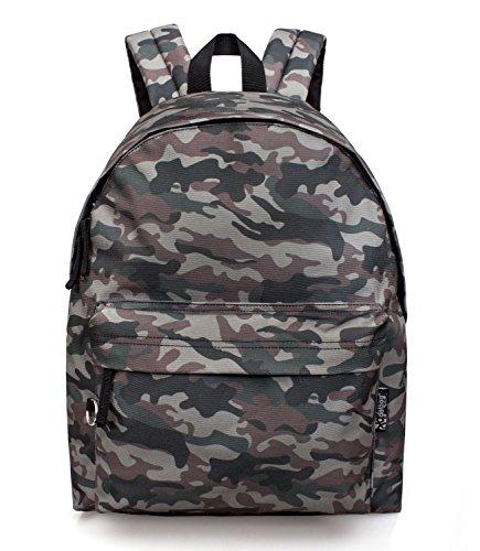 Zaino Scuola Americano Deluxe Delbag 'camouflage' Cm. 43x33x13