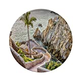 Porcelain Dinner Plates,La Quebrada (the Famous Divers' Cliff) Of,dinner Plates For Indoor And Outdoor Use,break-resistant,10 Inch