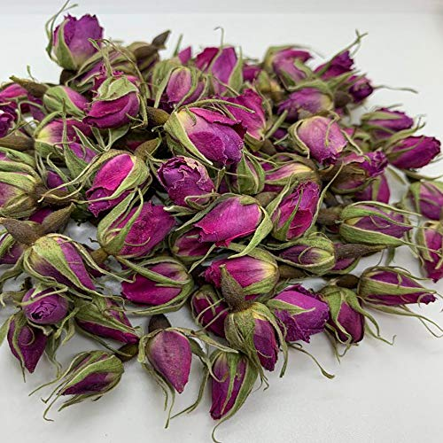 MonElla Dried Rose Buds Tea - Food Grade, 100% Natural Healthy Best for Tea, Baking, Rose Water (4 oz (Pack of 1))