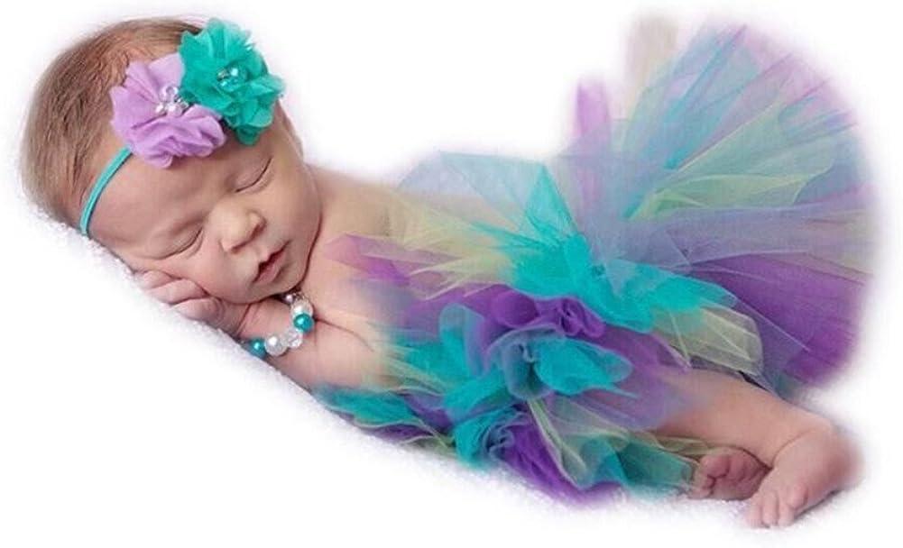 Unisex Newborn Max 77% OFF Girls Photo Photography Prop Super sale period limited Skirt Headband Tutu