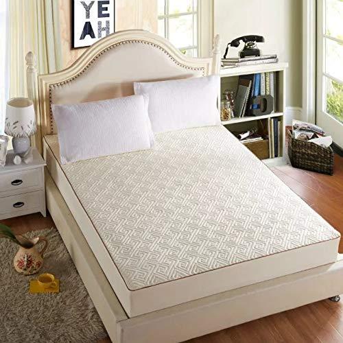 Acogedor Espesado colchón Cubierta Rey Cama Cama Ajustada lecho de Cama Anti-bacterias colchón Topper Pendientes PERMETEBLE Air-PEREALES para Hotel en casa (Color : Maze 3, Size : 150x200x25cm)