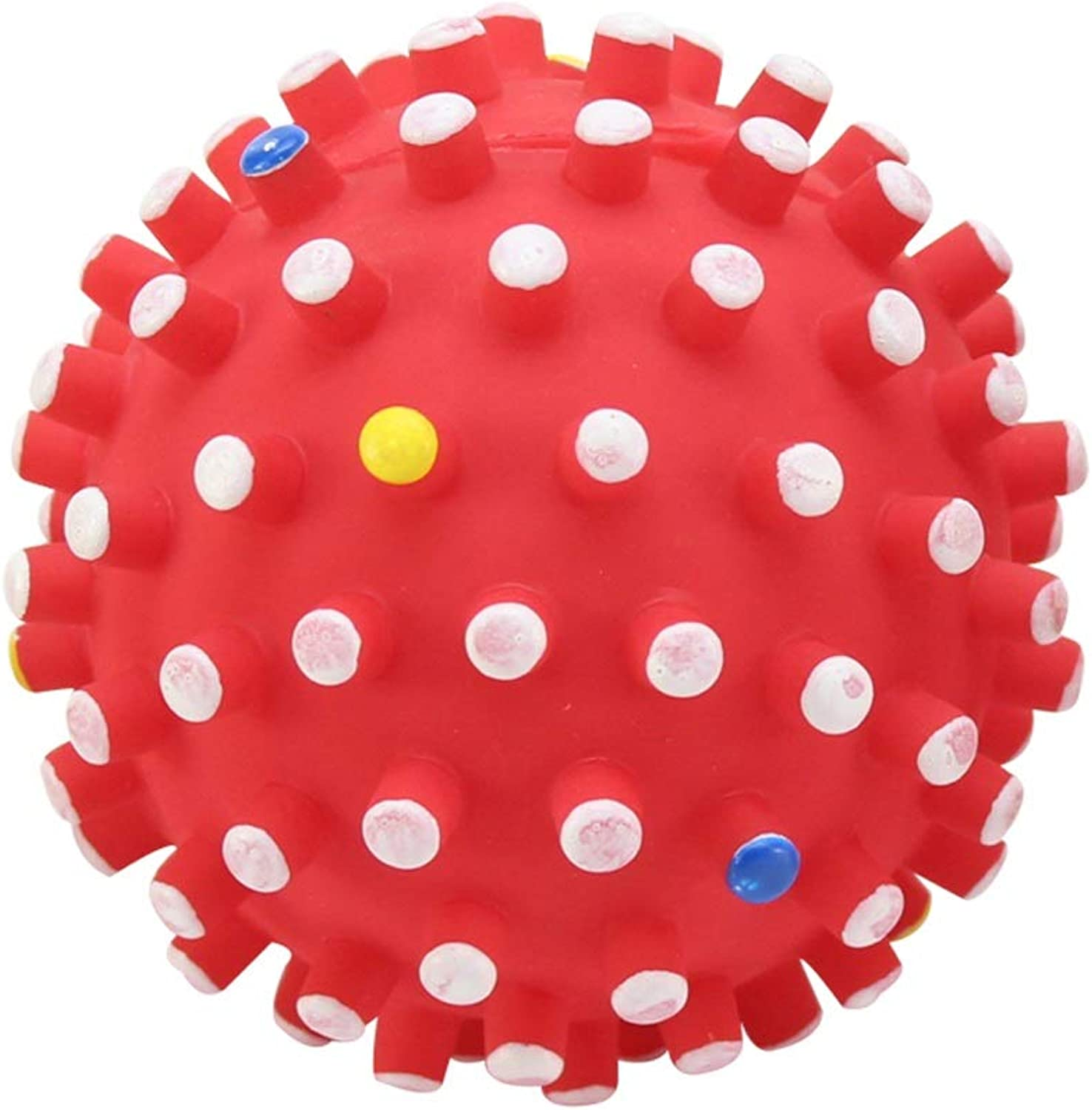 QYSZYG Dog Supplies Dog Toys BiteResistant Pet Toys Large Dog Toy Ball Vocal Small Dog Toy pet Toy (Size   12cm)
