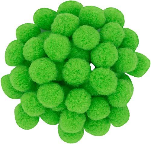 i-mondi® 50 pompons zum basteln hellgrün in 20mm klein bastel zubehör pom pom bunt kugeln ponpons deko pompom plüsch