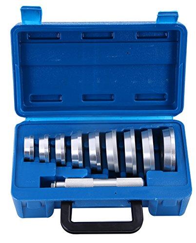 DASBET 10pcs Axle Bushing Bearing Race & Seal Install Driver Master Aluminum Tool Set