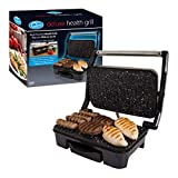 Quest 35600 Stainless Steel Deluxe Health Grill and Panini Sandwich Press, 1500 Watt