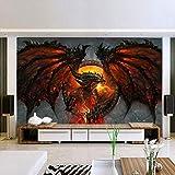 Papier Peint Photo Feu Dragon Grand Murales Home Interior Art Décor Chambre Salon...