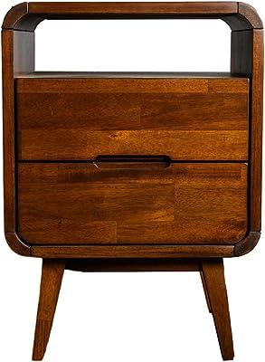 Emma's Design Warren Bedside Table, Walnut