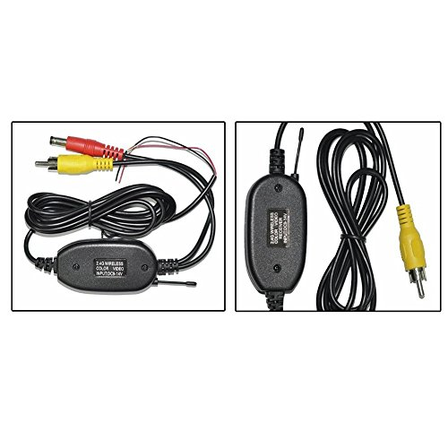 ZettaGuard 2.4G Wireless Color Video Transmitter and Receiver for The Vehicle Backup Camera/Front Car Camera