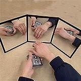 WANGYUMI Three-Sided Mirror Magic Toy Magic Poker Practice Close Up Street MagicTrick