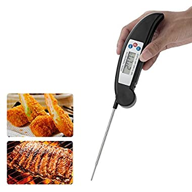 Cool-Shop Best Digital Food Meat Thermometer - Instant Read Technology - Perfect for Food, Liquid, Kitchen, Cooking BBQ - Fast Accurate Readings (Black)