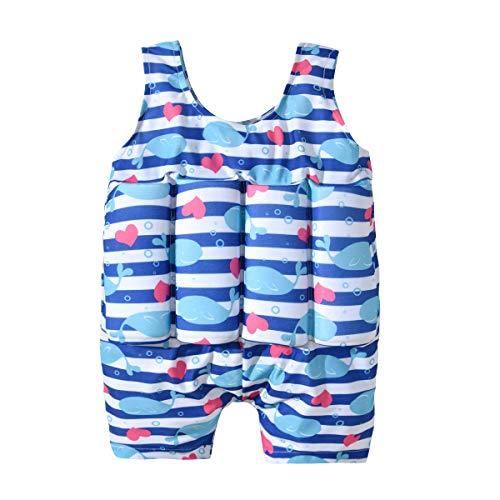 AMIYAN Kinder Jungen Mädchen Float Suit Bojen-Badeanzug Badebekleidung mit Schwimmhilfe Training Swimwear für Strand Baden (4-5 Jahre)