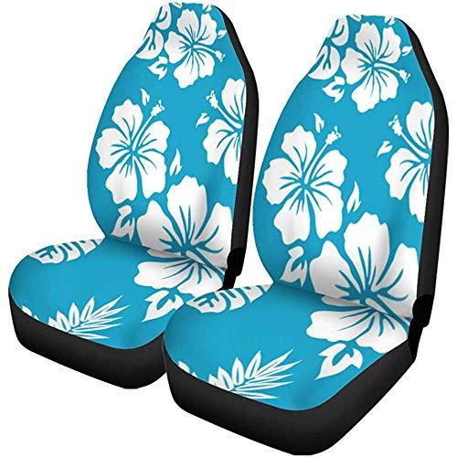 Feeling-Right Autositzbezüge Blume Hawaiian Aloha Muster Surf Luau Hibiscus Hawaii Retro Auto Zubehör Protektoren Car Decor
