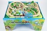 point-kids Holzeisenbahn Spielzeugeisenbahn Lok Waggon Brücke Figuren Schienen Set 100 Teile