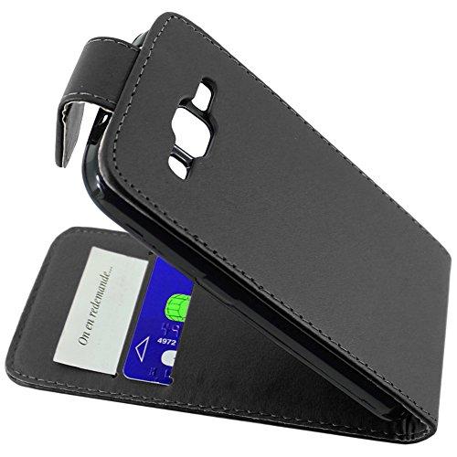 ebestStar - Funda Compatible con Samsung Galaxy Core Prime SM-G360F, 4G SM-G361F VE Carcasa Abatible PU Cuero, Ultra Slim Case Cover, Negro [Aparato: 130.8 x 67.9 x 8.8mm, 4.5'']