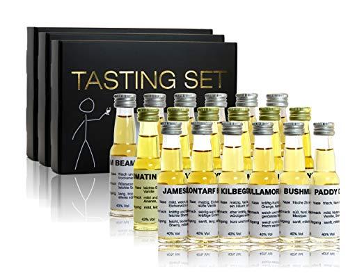 scotchbar Großes Einsteiger Tasting Set mit Whisky aus Schottland, Whiskey aus Irland, Bourbon aus den USA