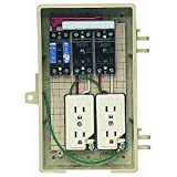 未来工業 屋外電力用仮設ボックス 漏電しゃ断器・分岐ブレーカ・コンセント内蔵 ELB組込品 2A-2CT