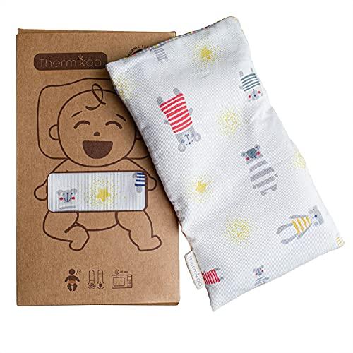 Saco Térmico Semillas especial para Niños y bebés - Saco Semillas Microondas Bebé sin Olor (22x14 cm) - Bolsa de Semillas Multiusos ideal para bebés, Niños y Adolescentes. (Thermikoa)