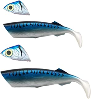 F Fityle 2X Freshwater Saltwater Reusable Crankbait Tackle Lifelike Soft Floating Lures Soft Topwater Swim Baits 27cm 33cm