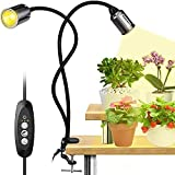 LED Grow Light for Indoor Plants, 75W 3000K Full Spectrum Growing Lamp with CREE COB LED, Auto On/Off 3/6/12H Timer Plant Lamp, 3600 Lux 4 Brightness Plant Light for Seedlings Veg Flower Succulents