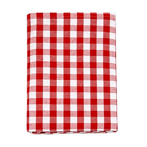 Nappe en vichy rouge - Rectangulaire - 100 % coton - Carreaux rouges et blancs , 100 % coton, Red, 59 x 78\