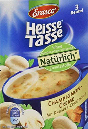 Heisse Tasse Champignon-Creme mit Croûtons Faltschachtel á 3 Beutel á 0,15 l, 12er Pack (12 x 450 ml)