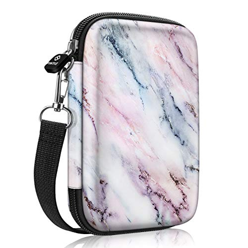 Fintie Protective Case for Fujifilm Instax Mini Link Printer, HP Sprocket Plus/Select Photo Printer, Canon Ivy CLIQ, Ivy CLIQ+ Instant Camera Printer-Hard EVA Shockproof Carrying Bag (Marble Pink)