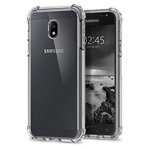 REY Funda Anti-Shock Gel Transparente para Samsung Galaxy J5 2017, Ultra Fina 0,33mm, Esquinas Reforzadas, Silicona TPU de Alta Resistencia y Flexibilidad